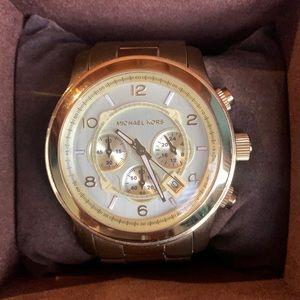 Michael Kors oversized runway gold watch